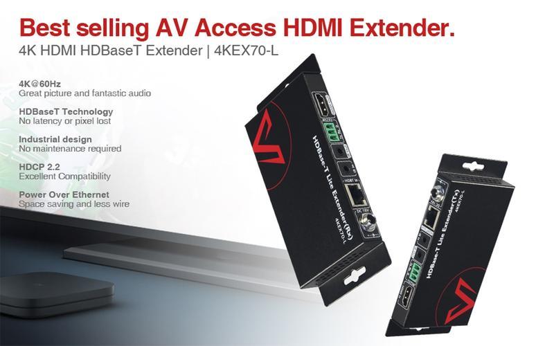 4KEX70-L bộ kéo dài tín hiệu (Extender) AV Access
