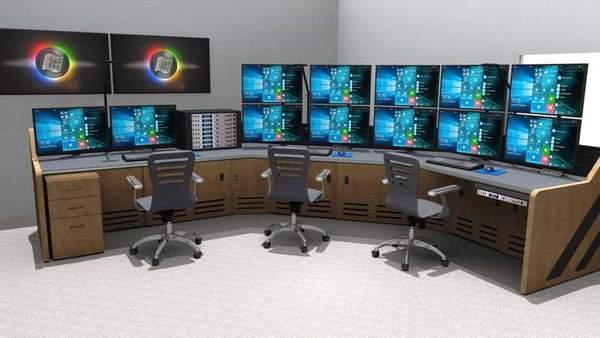 Hệ thống máy tính được điều khiển bởi KVM Switch